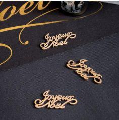 """10 Confettis de table """" Joyeux Noël """" - Or - 6 cm"""