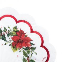 16 Serviettes en papier Poinsettia de 33 cm