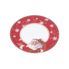 20 Assiettes en carton recyclé Père Noël de 23 cm