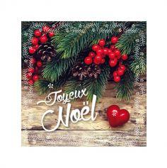 20 serviettes en ouate Décor de Noël - 33 cm