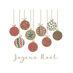 20 Serviettes en ouate Boules de Noël - 40 cm