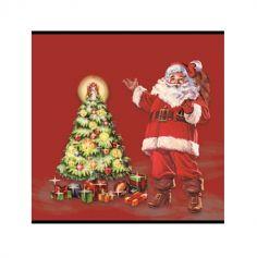 20 serviettes en ouate Père Noël - 40 cm