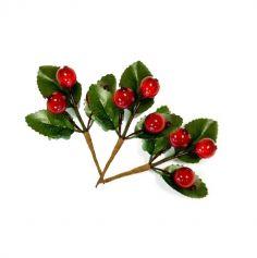3 petites branches décoratives de Noël avec baies givrées | jourdefete.com