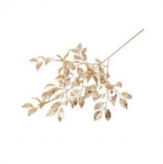 branche de feuilles avec paillettes champagne 72 cm | jourdefete.com