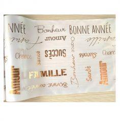 chemin de table bonne annee rose gold | jourdefete.com