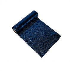 Chemin de Table en Sequins Bleu Marine