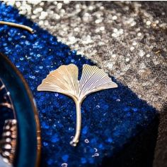 Chemin de Table en Sequins Bleu Marine