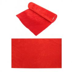 Chemin de table en velvet Rouge - 3 m