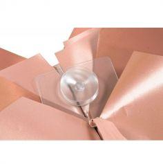 Nœud à tirer géant automatique rose gold métallique - 58cm
