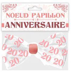 Nœud Papillon - Anniversaire - Femme - Age au Choix