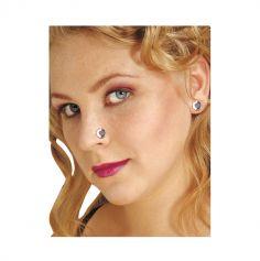 Pack de 2 piercings magnétiques - Strass blanc