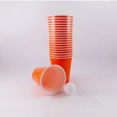 "Gobelets ""Beer Pong"" x20 - Orange"