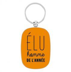 """Porte-Clé Orange """"Élu Homme de l'Année"""" - Derrière La Porte"""