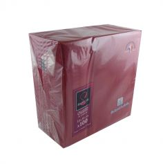 100 Serviettes Ouate de Cellulose Bordeaux