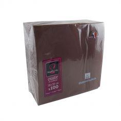 100 Serviettes Ouate de Cellulose Chocolat