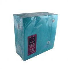 100 Serviettes Ouate de Cellulose Bleu Turquoise