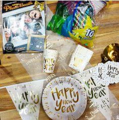 Pack de décorations Bonne Année pour 10 personnes