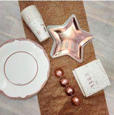 Pack de décorations de table de Noël Rose Gold pour 8 personnes