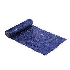 chemin-table-paillettes-bleu-nuit| jourdefete.com