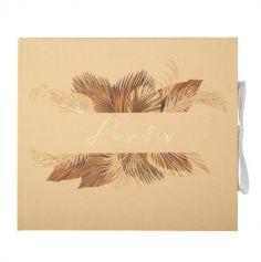livre d or palm chocolat sable et or | jourdefete.com