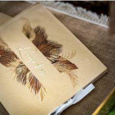 Livre d'Or - Palm Leaf - Sable et Or