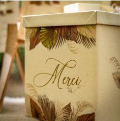 Urne Merci - Palm Leaf - Sable et Or