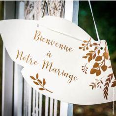 Pancarte Bienvenue à Notre Mariage - Ivoire