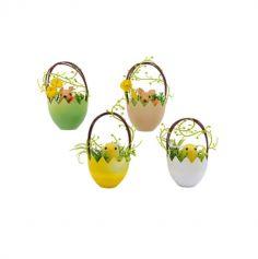 Panier de Pâques avec Poussin ou Ecureuil - Couleur au Choix