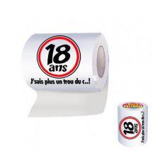 Papier toilette humoristique anniversaire : 18 ans
