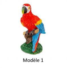 Perroquet en Résine - Rouge et Bleu - Modèle au choix