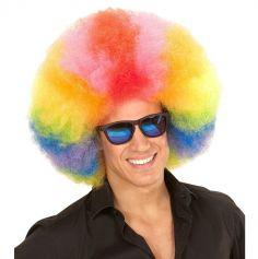 clown-perruque-afro-multicolore-arc-en-ciel-carnaval-disco|jourdefete.com
