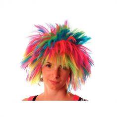 Perruque Crazy Multicolore Fluo