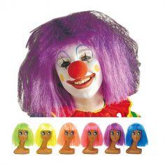 Perruque de Clown Fluo Coloris au Choix