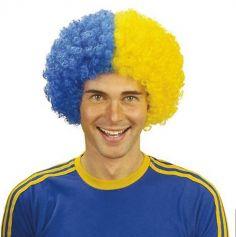 perruue_supporter_frisee_asm_bleu_jaune | jourdefete.com