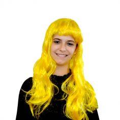 Perruque blonde Party chic - Jaune