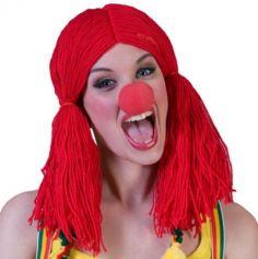 Perruque de Clown en Laine pour Femme