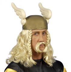 Perruque Blonde de Gaulois Malin avec sa Moustache - Taille Unique Adulte