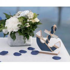 100 pétales de table - Bleu Marine