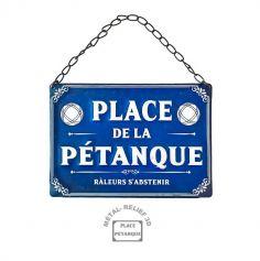 plaque en metal place de la petanque | jourdefete.com