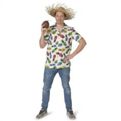 Chemise Hawaï Ananas pour homme - Taille au Choix