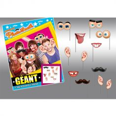 "Pack photo booth Géant ""Visage caricature"""