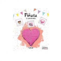 Piñata à construire - Cœur Rose