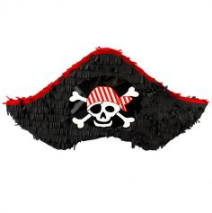 Piñata à tirer Chapeau de Pirate - 50 cm