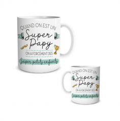 mug super papy ou mamie modele au choix | jourdefete.com