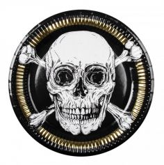 assiettes-jetables-pirate-halloween | jourdefete.com