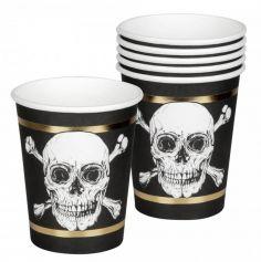 gobelets-anniversaire-squelette-pirates-halloween | jourdefete.com