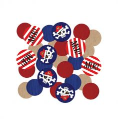 confettis collection pirate rouge | jourdefete.com