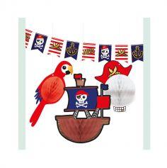 kit de decoration collection pirate rouge | jourdefete.com