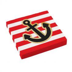 16 serviettes collection pirate rouge | jourdefete.com