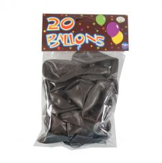 20 Ballons de Baudruche Chocolat